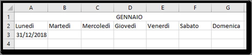 Calendario Settimane Anno 2019.Excel Creare Un Calendario Per L Anno 2019 Utilizzando