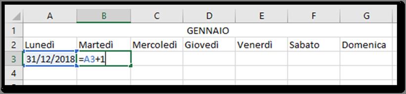Calendario Dinamico Excel.Excel Creare Un Calendario Per L Anno 2019 Utilizzando