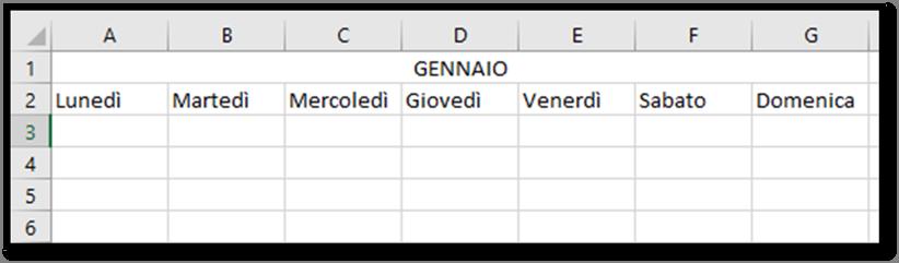Calendario Su Excel.Excel Creare Un Calendario Per L Anno 2019 Utilizzando